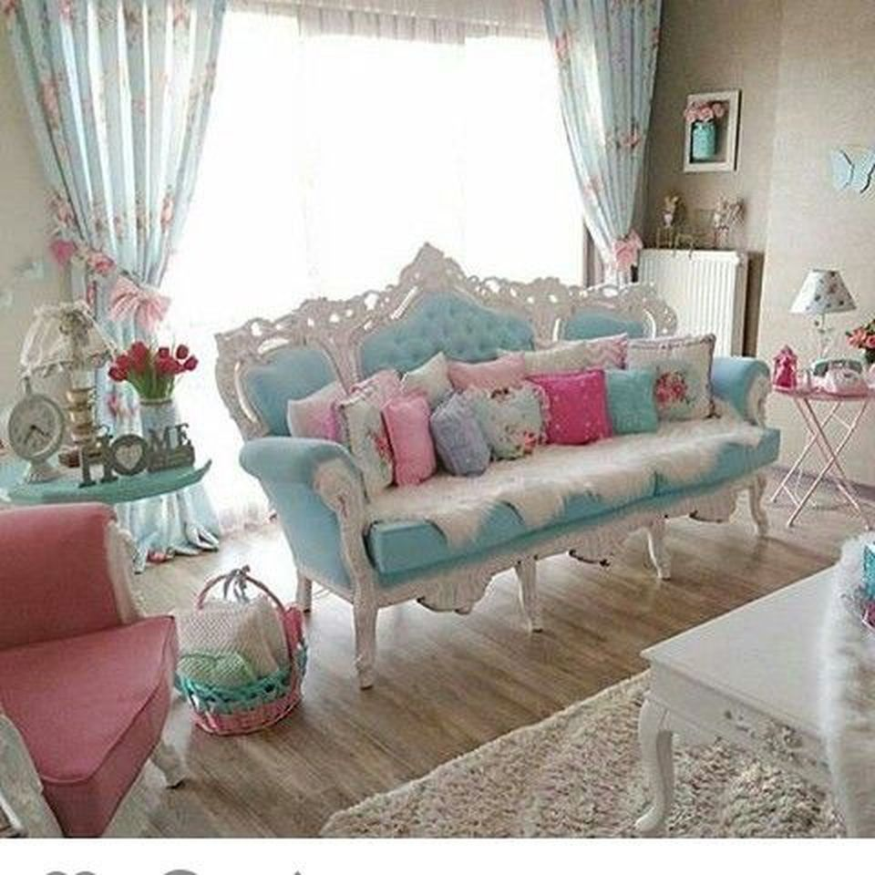 Shabby Chic Living Room: 70 Vintage Shabby Chic Living Room Decorations Ideas