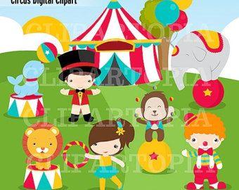 50 OFF SALE Vintage Carnival Circus Digital By ClipArtopia