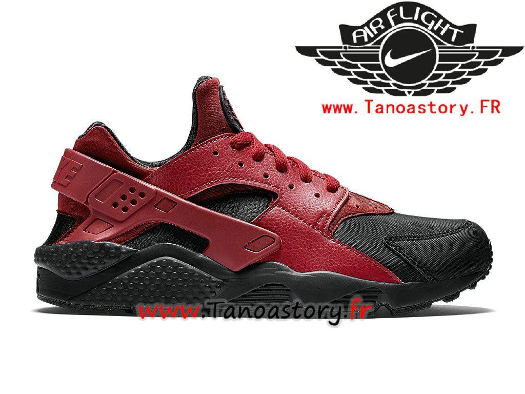 Chaussures Homme Nike Air Huarache Prix Pas Cher Rouge Noir