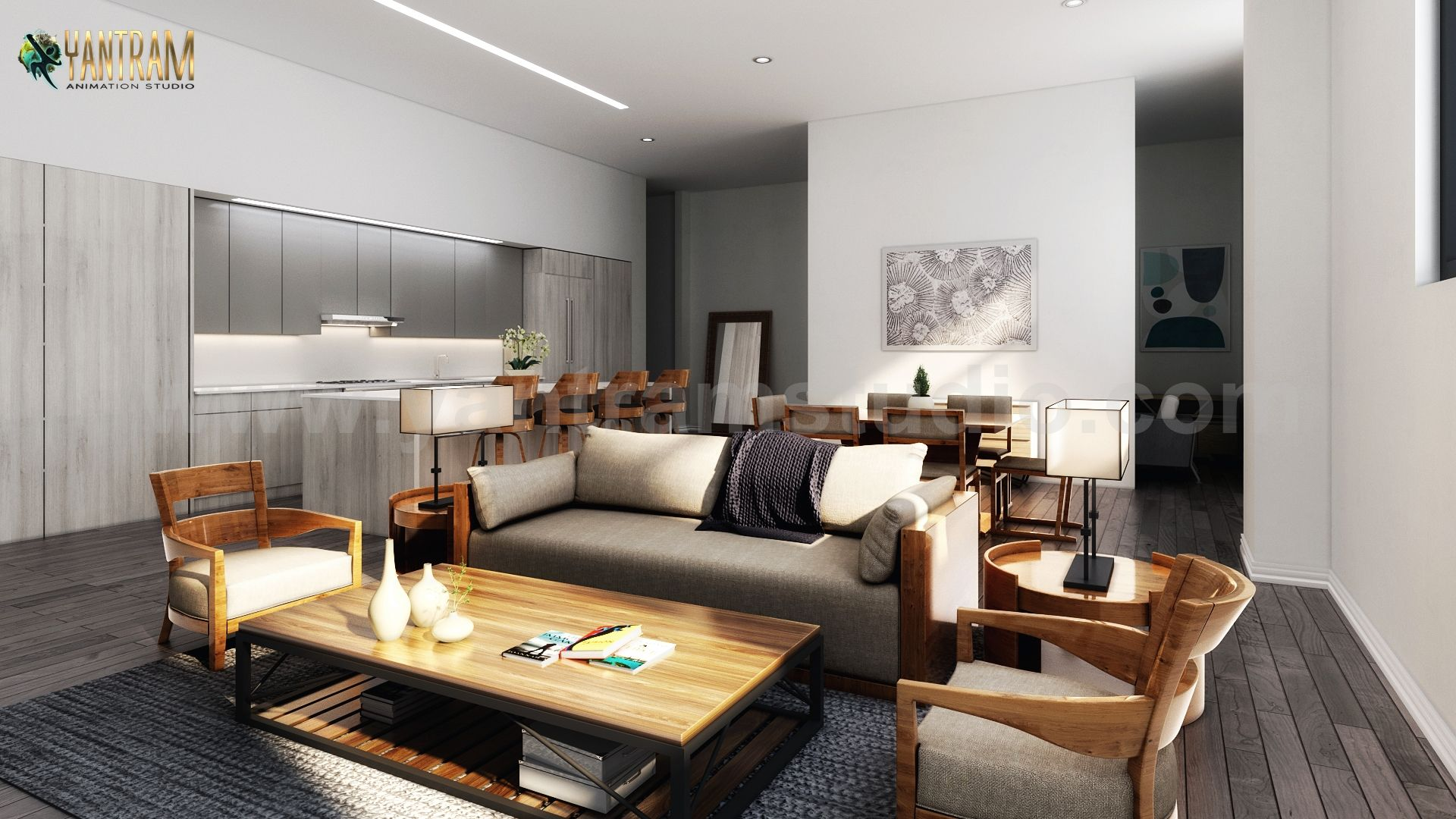 There are several 3D Interior Rendering Services for a modern ...