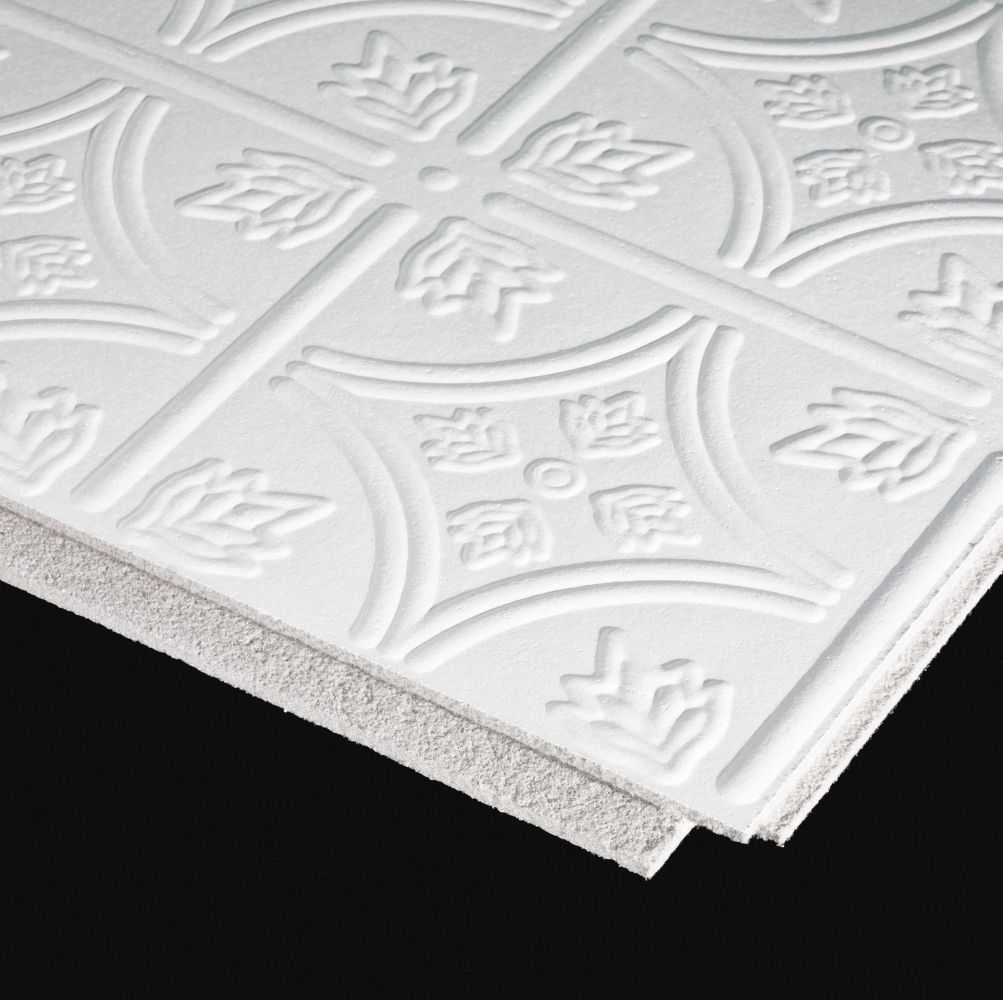 1244 Circles Is A Paintable Ceilings By Armstrong This 12 X 12 Decorative Styrofoam Ceiling Tiles Ceiling Tiles Armstrong Ceiling