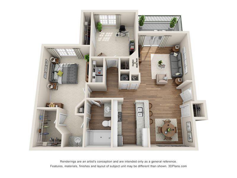 The Yorkshire 1 Bed 1 Bath Houston Apartment Small House Design Plans Apartment Floor Plans