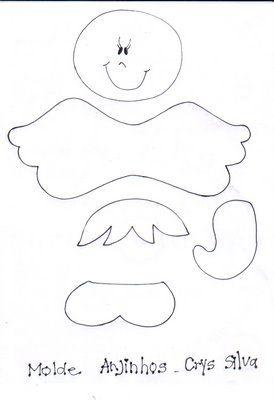 Modelos E Moldes De Anjos Anjos Eva