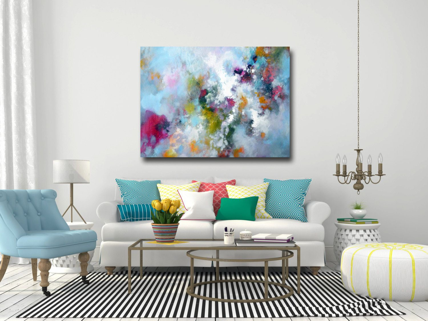 Canvas art large abstract print giclee print wall art large