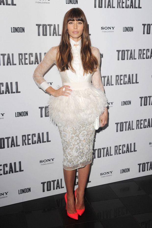 Jessica Biel wearing Giambattista Valli Couture