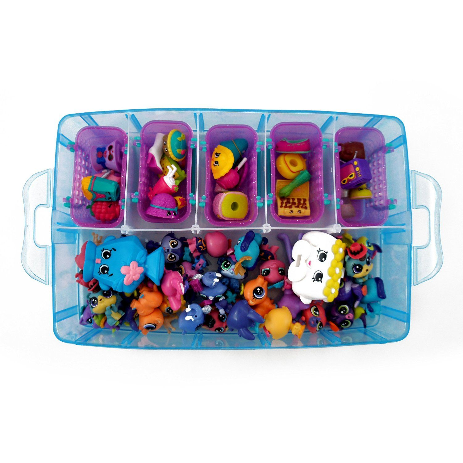 Amazon.com: Stackable Storage Container By Bins U0026 Things, Perfect For  Shopkins, Littlest Pet Shop, Rainbow Loom, Palace Pets And Small Toys    With 30 ...