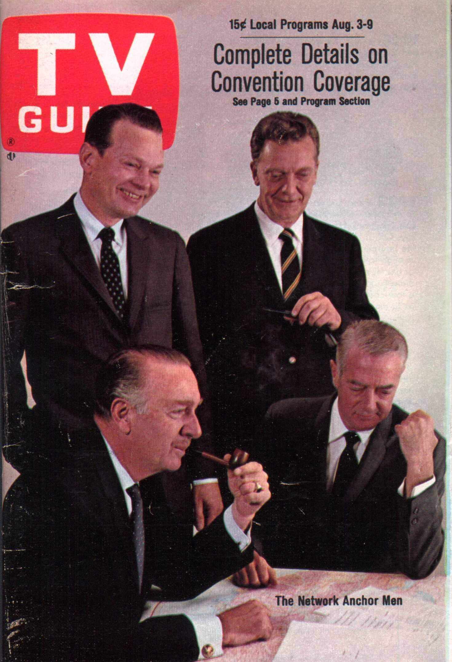 The big three network news anchors in 1968 -- Huntley
