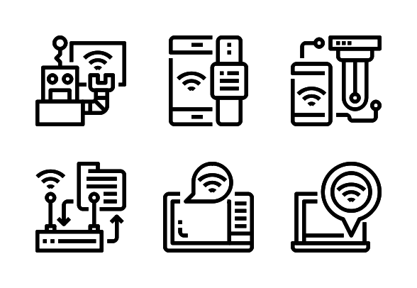Internet Of Thing Icons By Just Icon Icon Internet Communication