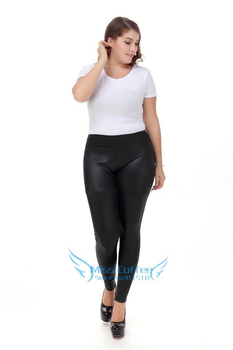 e8398cfde5 Women Pants Plus Size S-XXXXXL 2017 winter Fashion Long Leather pants Black  Skinny Trousers High Waist PU Leather