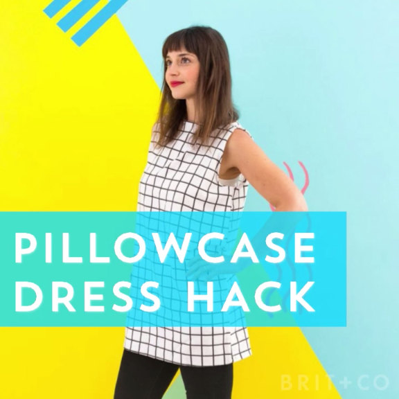 Learn how to upcycle an old pillowcase into a dress with this DIY style hack video