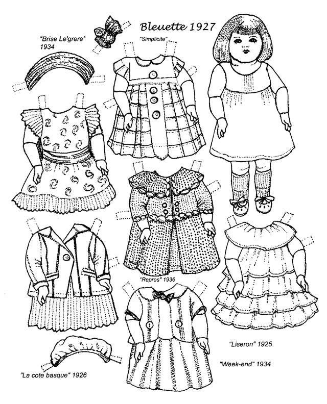 Paper Doll Coloring Pages Munchkins