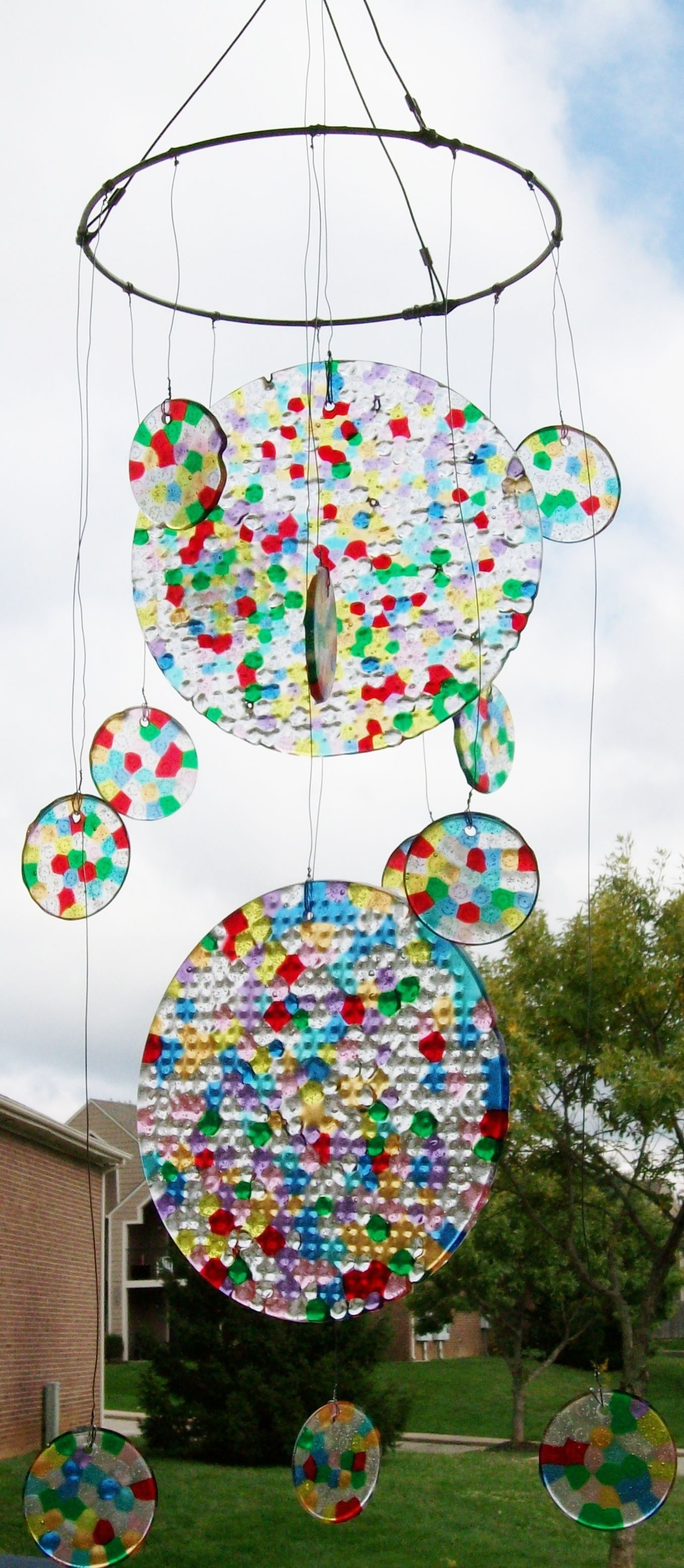 Plastic Beads Melted In The Oven Cool Wind Chime Wind Chimes