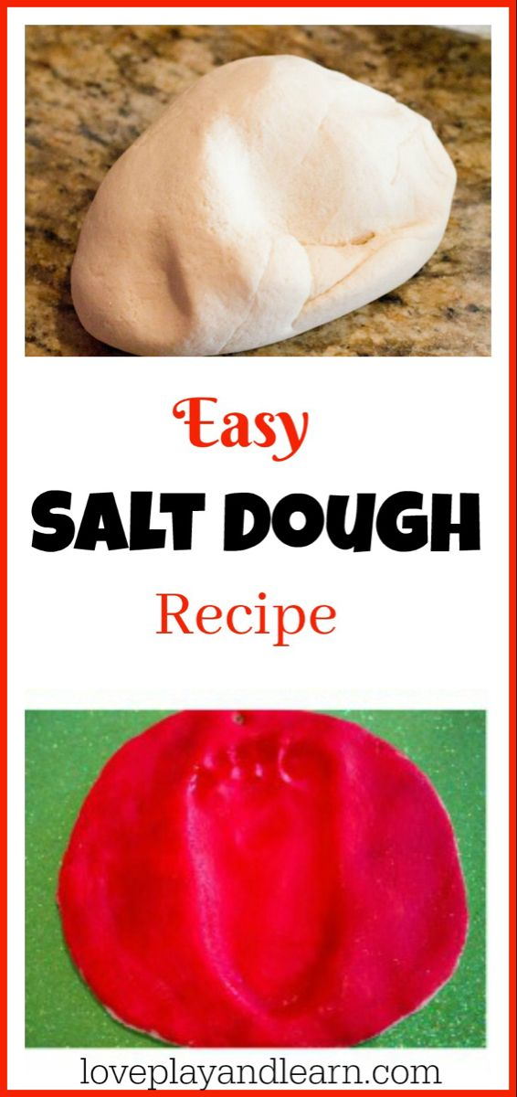 Salt Dough Recipe great for handprint and footprint ornaments
