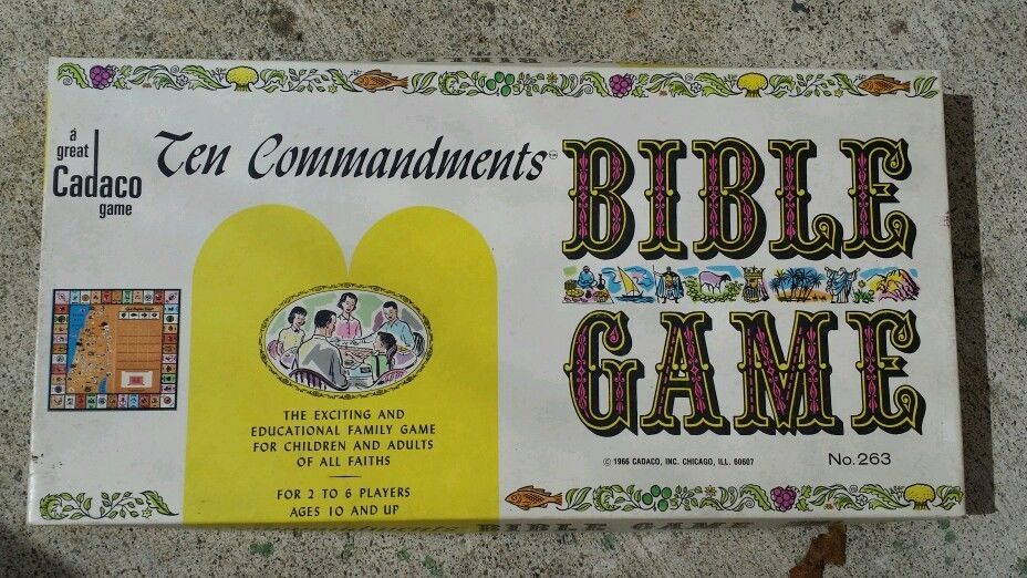 VINTAGE CADACO 1966 TEN COMMANDMENTS BIBLE BOARD GAME