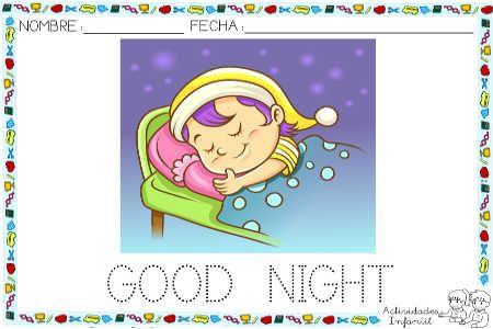 Saludos Para Los Diferentes Momentos Del Dia En Ingles Good Night Ingles Para Ninos Ingles Para Preescolar Material Escolar En Ingles