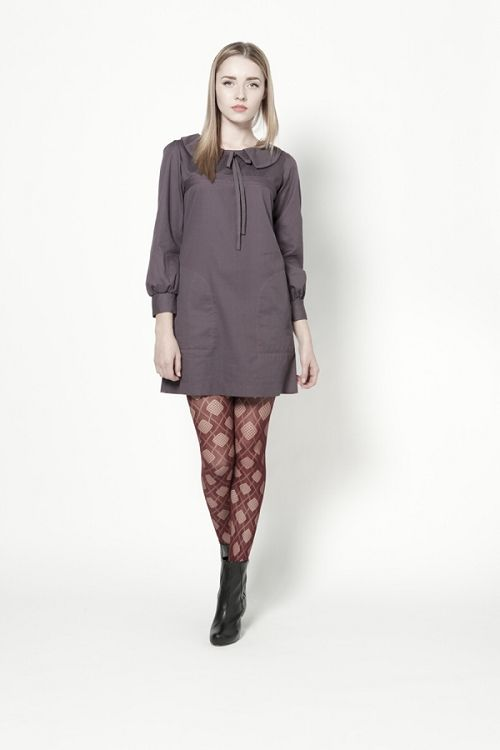Sally Dress - Plum Ditsy