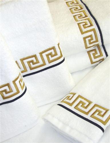 Athens Greek Key Luxry Bath Towels
