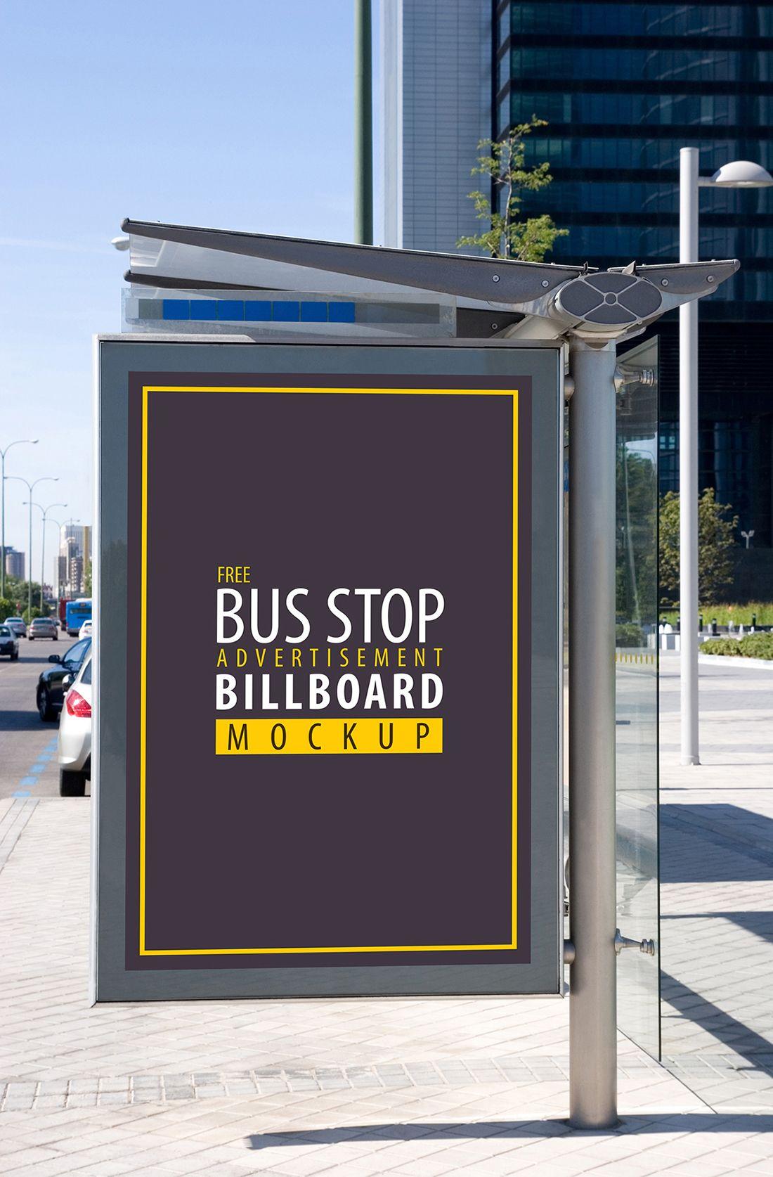 Free Bus Stop Advertisement Billboard Psd Mockup Bus Stop Bus