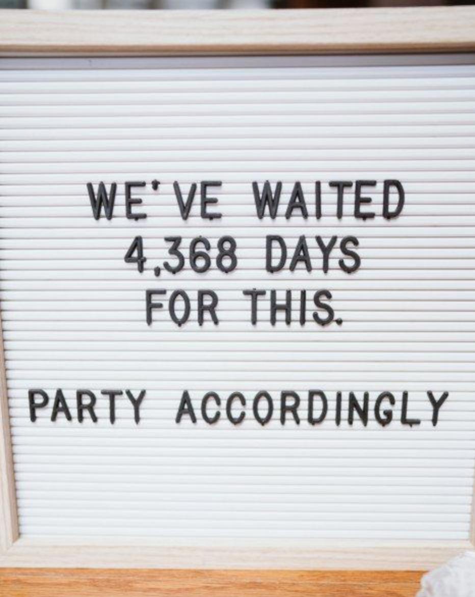 Funny Party Wedding Signage