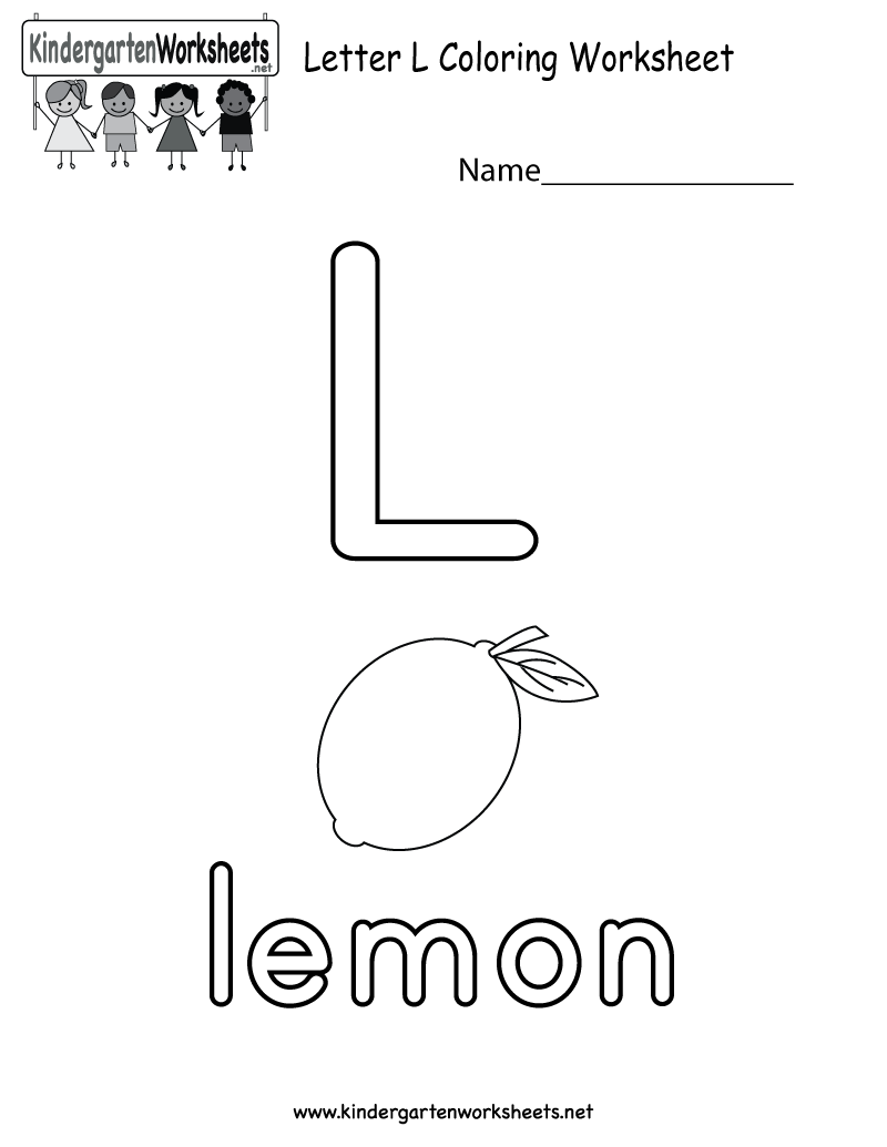 Worksheets Letter L Worksheets For Preschool letter l coloring worksheet for preschoolers or kindergarteners free kindergarten english kids
