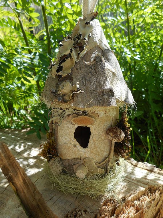 Minature Wood Fairy House by EgyptianTailsGifts on Etsy #fairyhouse #fairy