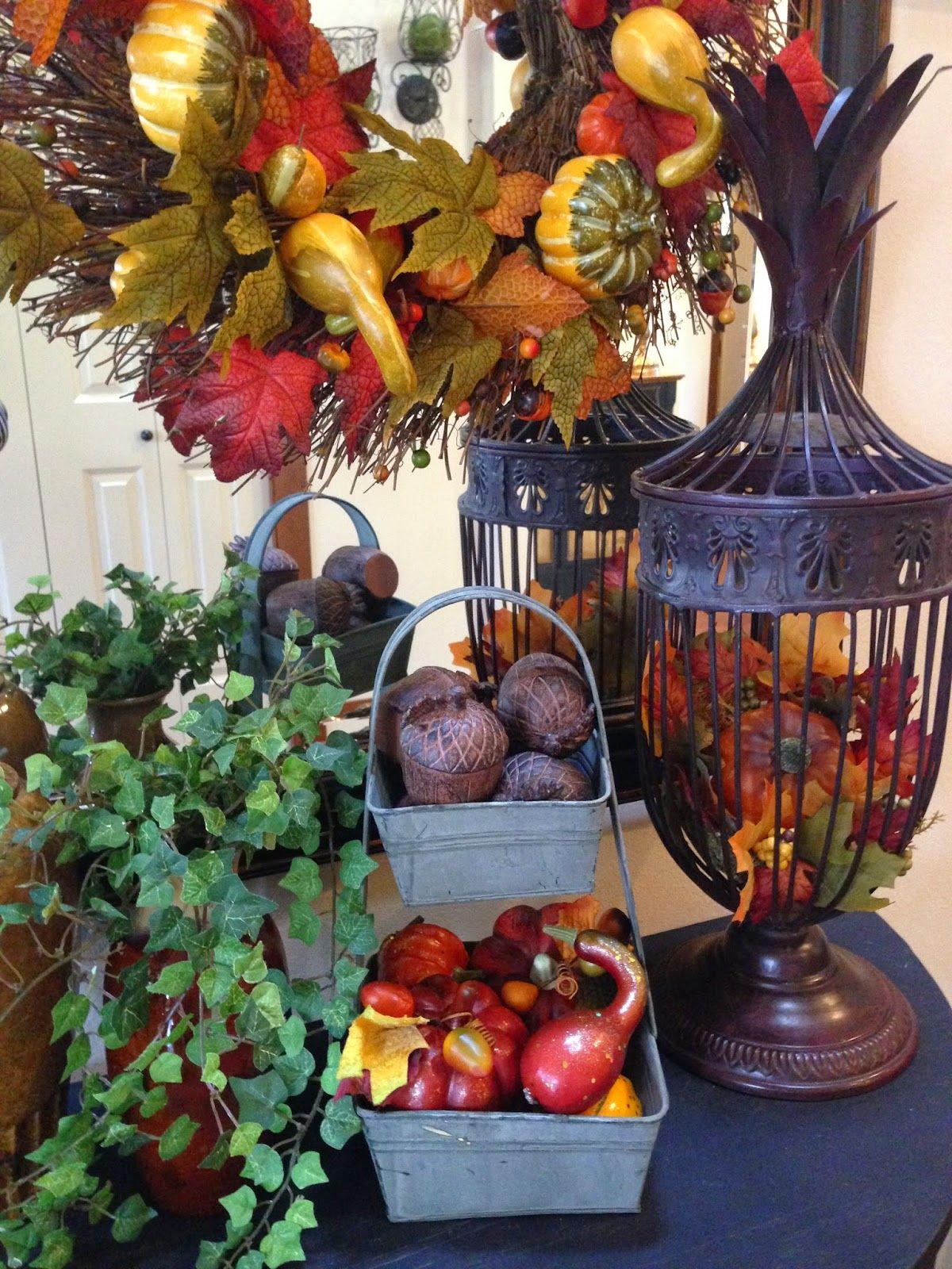 The Tuscan Home Autumn Table Display