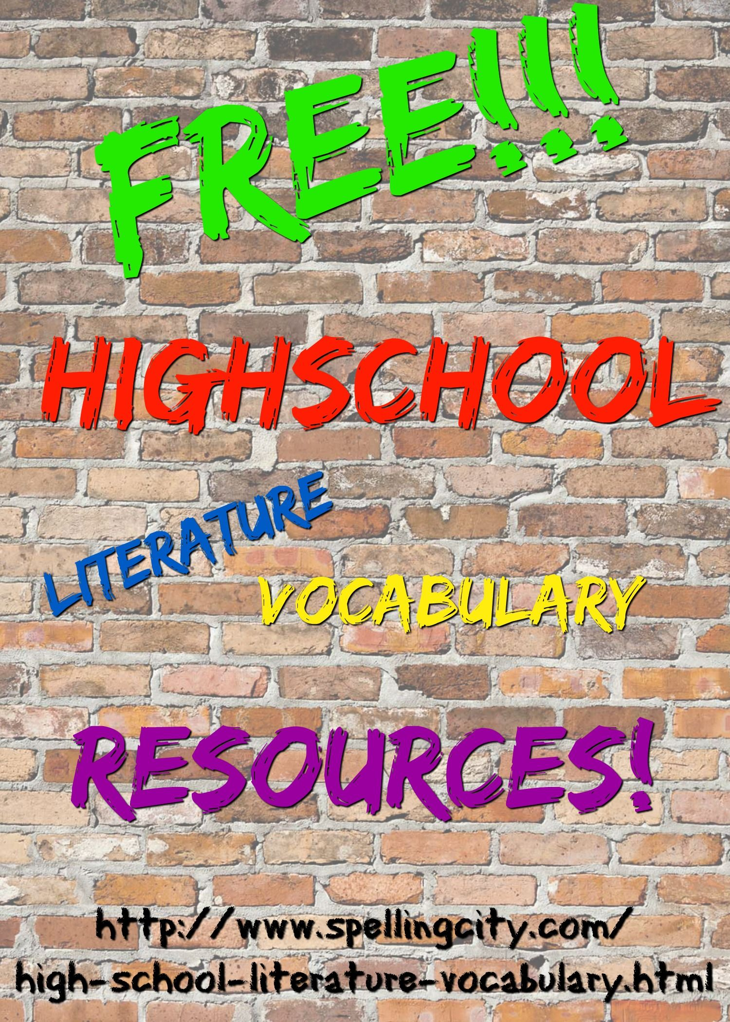 Vocabularyspellingcity promotes high school vocabulary learning and comprehension while your students explore great literature