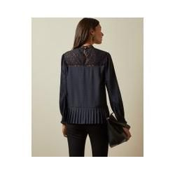 Photo of Loose top with mesh and lace details and animal pattern Ted BakerTed Baker