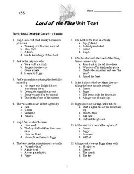 Lord Of The Flies Unit Test And Key   Ela  Middle School  This Lord Of The Flies Unit Test Includes  Multiple Choice Questions   Short Answer Questions And One Essay Question  Essay Topic Choices Essay On Science And Society also High School Dropout Essay  Medical Literature Review Services