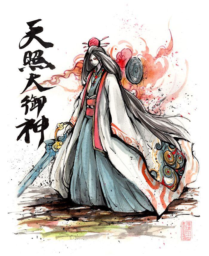 Amaterasu Omikami Or Okami By Mycks Deviantart Com On Deviantart