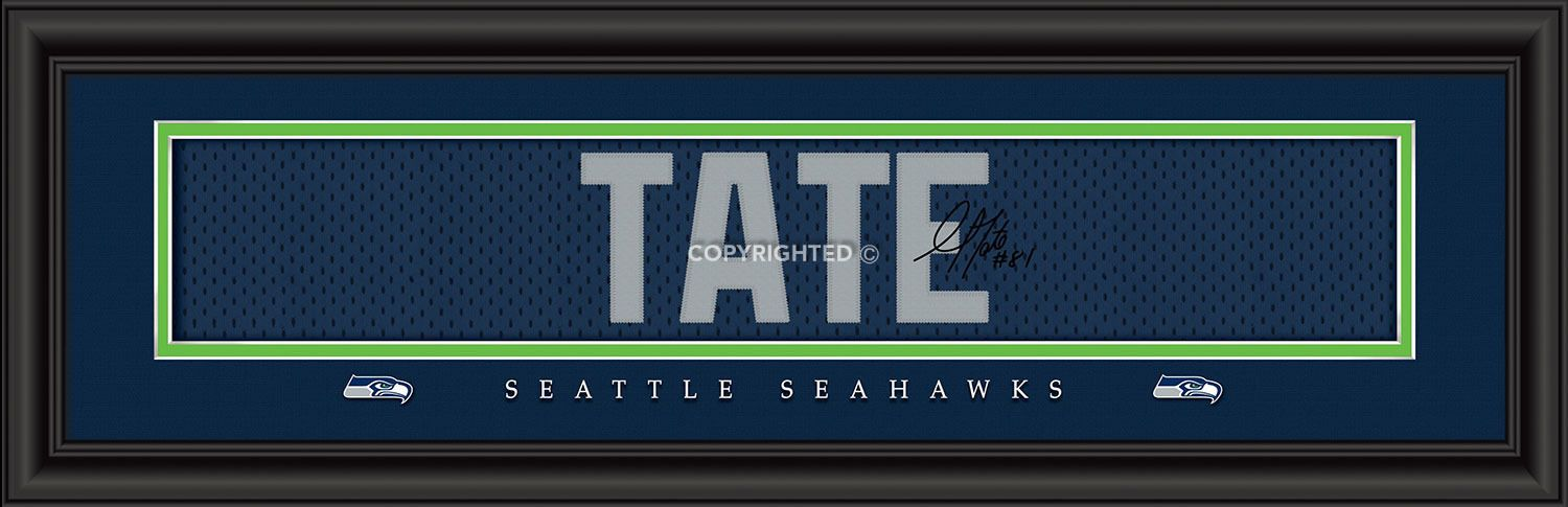 Golden Tate Seattle Seahawks Player Signature Stitched Jersey Framed ...
