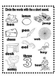 Printables Short E Worksheets For First Grade short e worksheets versaldobip davezan