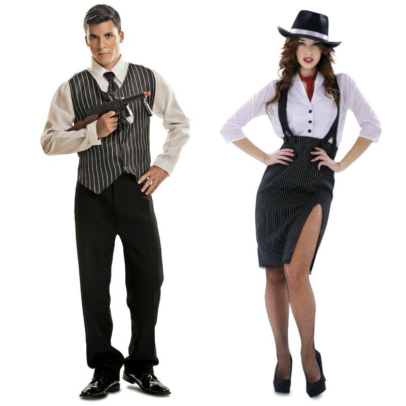 Pareja disfraces de g nsters parejas disfraces carnaval for Disfraces parejas adultos