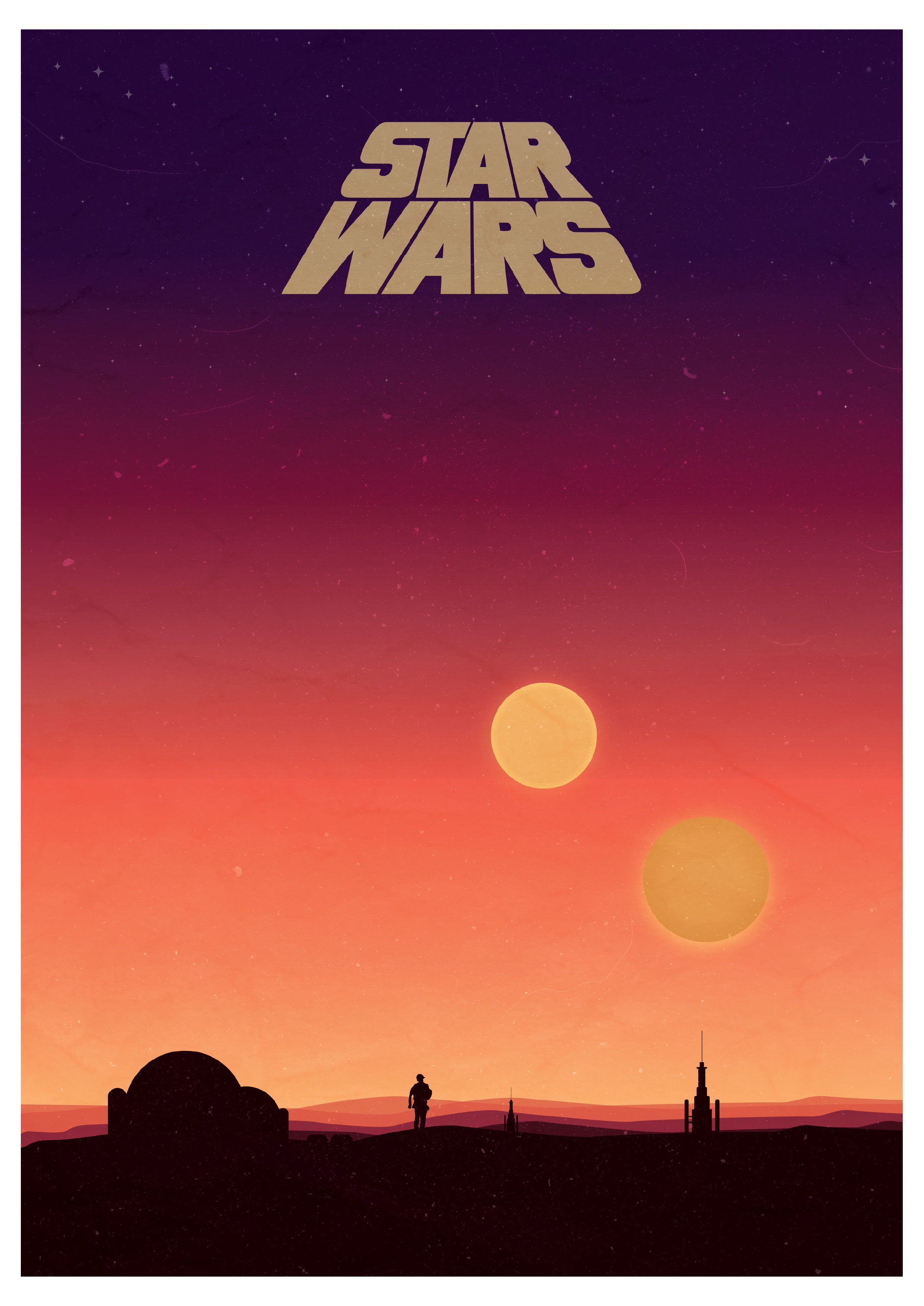 Star Wars Binary Sunset Poster I Made This One The Weekend Was Super Fun Imgur Starwarswallpap In 2020 Star Wars Painting Star Wars Background Star Wars Wallpaper