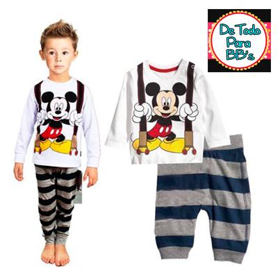 f4c78c2ad [EN STOCK] PIJAMA PARA NIÑOS. Código: PIJAMA-029. Precio: S/. 49,99.  Diseño: Mickey Mouse. Color: Plomo, Negro y Blanco. Tallas: 3T, 4T