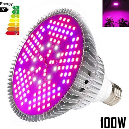 Amazon Com 100W Led Grow Light Bulb Full Spectrum Plant 640 x 480