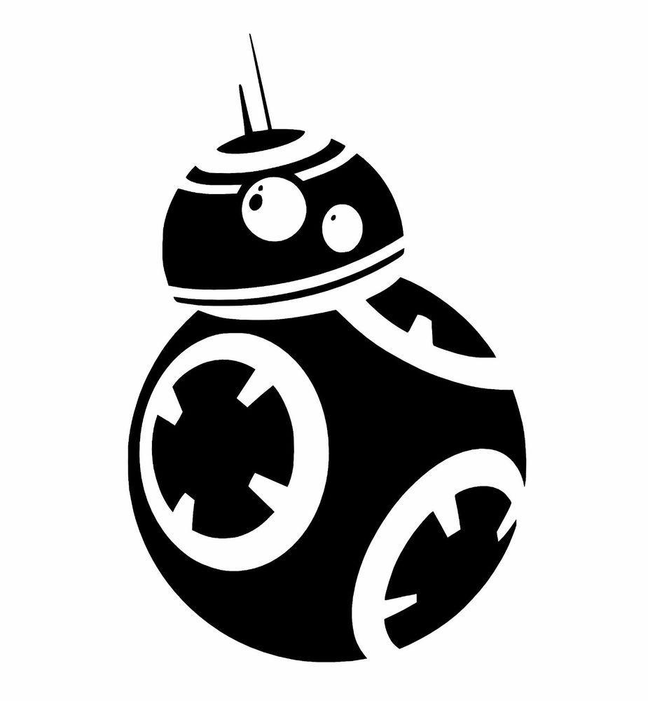 Star wars the force awakens inspired bb 8 ball droid decal sticker car window ebay