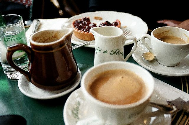 Cafe Au Lait at Café de Flore, Paris
