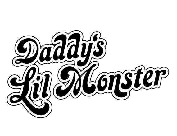 Harley quinn daddys little monster decal sticker ballzbeatz
