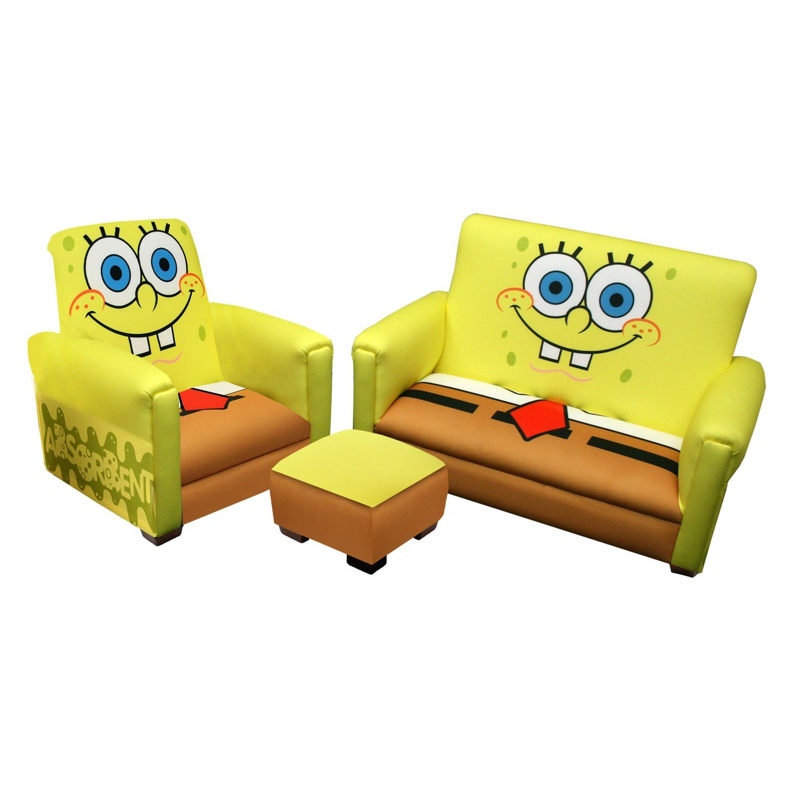 Fabulous Nickelodeon Sponge Bob Deluxe Toddler Sofa With Chair And Ncnpc Chair Design For Home Ncnpcorg