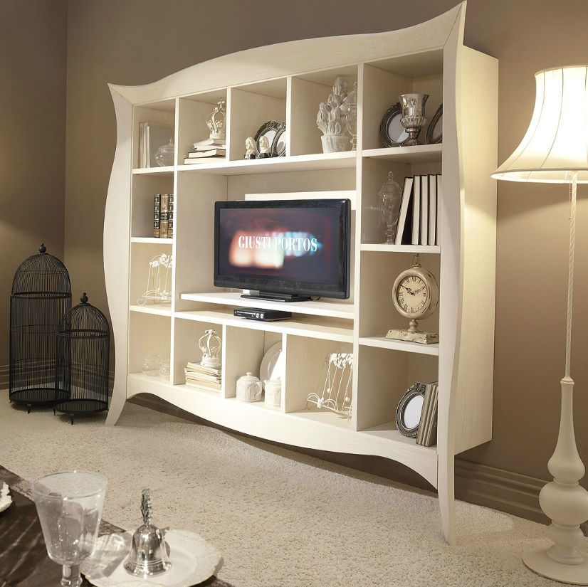 Mobile Porta Tv E Libreria.La Libreria Porta Tv Liberty Coniuga La Praticita E Comodita Di