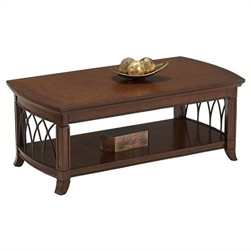 bernards cathedral cherry with metal cocktail table for sale