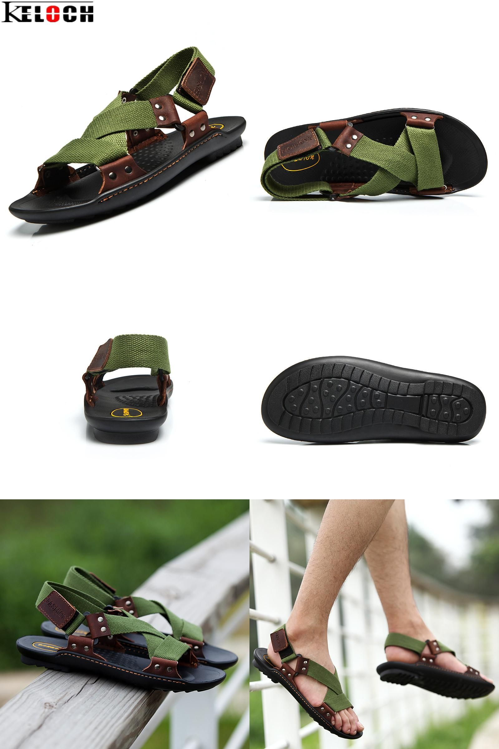 df7174eb8f1663  Visit to Buy  Keloch Summer Beach Shoes Sandals 2017 Fashion Designers Men  Sandals Brand Leather Slippers For Men Zapatos Sandalias Hombre   Advertisement