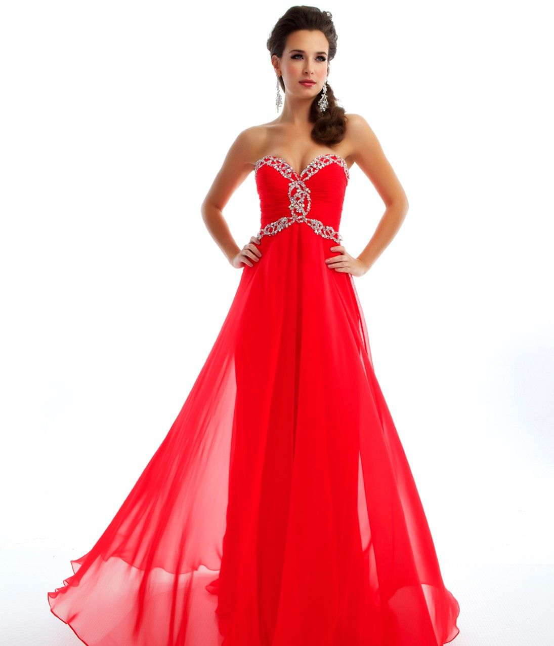 Mac duggal prom dresses strapless cherry gown with sequins