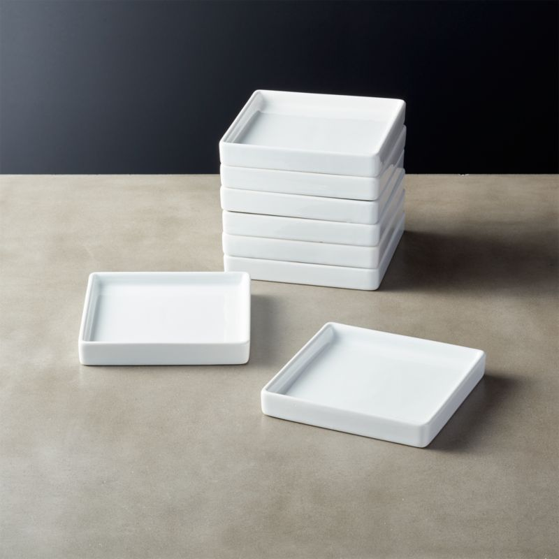Bento Small Square Plate Set Of 8 Reviews With Images Square Plates Square Plate Set Appetizer Plates Set
