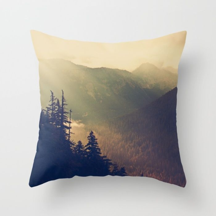 Sunrise over the Mountians Throw Pillow