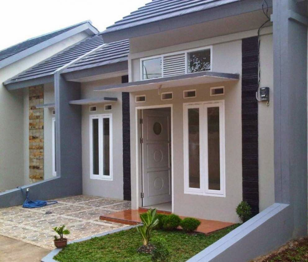 Cat Teras Rumah Minimalis Warna Biru Absurd Things Rumah Minimalis Desain Rumah Modern Rumah