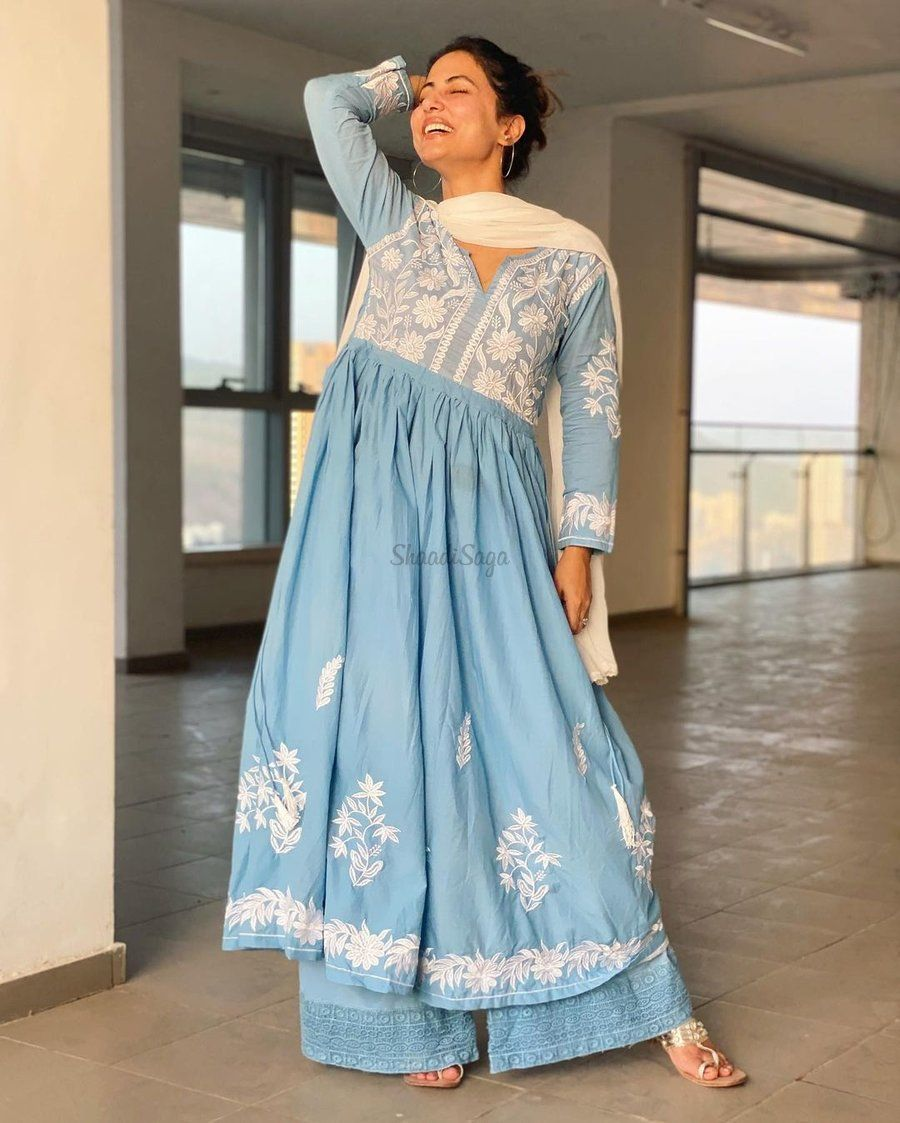 20+ Hand Picked Bridal Outfits From Actress Hina Khan   Celebrity inspired outfits, Indian bridal outfits, Outfits