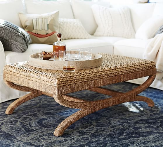 Seagrass Coffee Table Ottoman Ottoman Table Coffee Table New