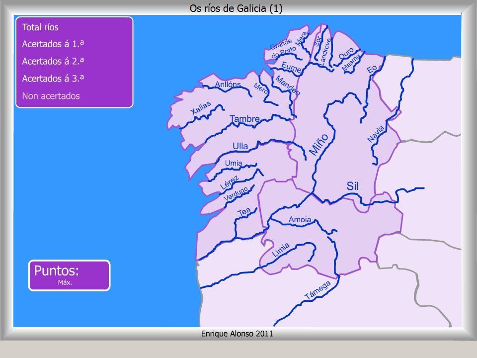 Mapa interactivo de Galicia Ros de Galicia Onde est
